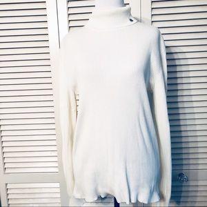 Lauren Ralph Lauren | Cotton Ribbed Turtleneck